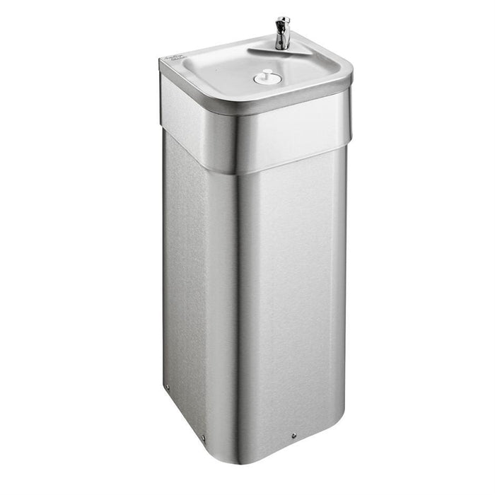 Armitage Shanks Purita Drinking Fountain with Wall Fixed, Floor Standing Pedestal 900mm High for Adult Use - Unbeatable Bathrooms