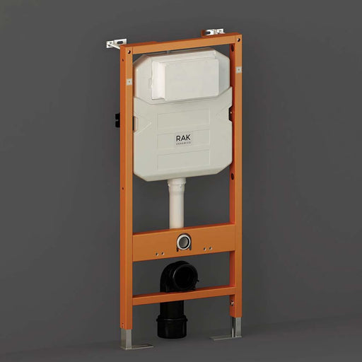 Rak 12cm Front Flush Regular Concealed Cistern and Frame For Wall Hung Pan - Frame Height 114cm - Unbeatable Bathrooms
