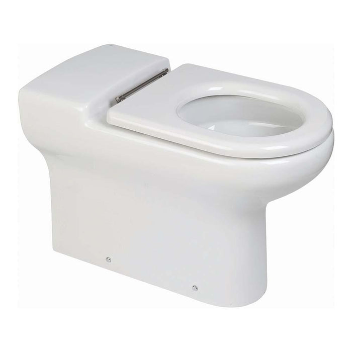 Rak Compact Special Needs 75cm Extended Rimless Back To Wall WC Pan without Seat - Unbeatable Bathrooms