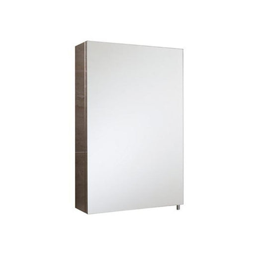 Rak Cube Mirrored Bathroom Cabinet 60cm x 40cm Stainless Steel - Unbeatable Bathrooms