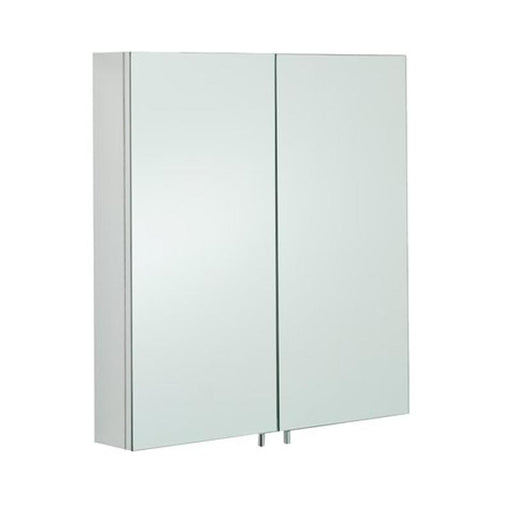 Rak Delta Mirrored Bathroom Cabinet 60cm x 67cm Stainless Steel - Unbeatable Bathrooms