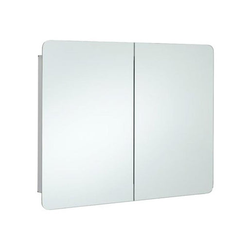 Rak Duo Mirrored Bathroom Cabinet 60cm x 80cm Stainless Steel - Unbeatable Bathrooms