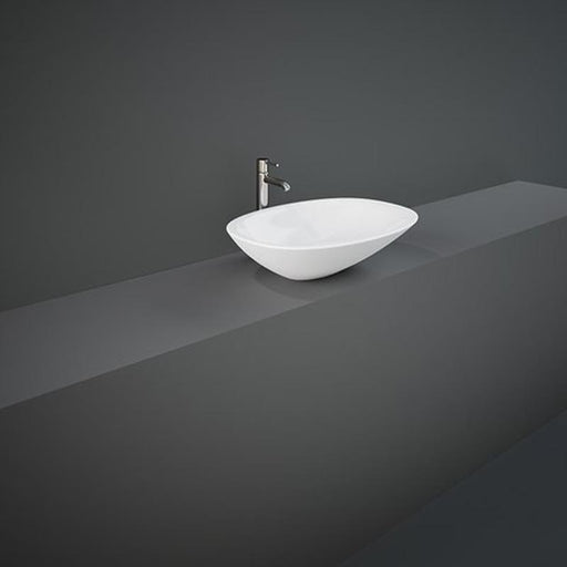 Rak Morning Sit-On Countertop Basin 54cm Wide - No Tap Hole - Unbeatable Bathrooms
