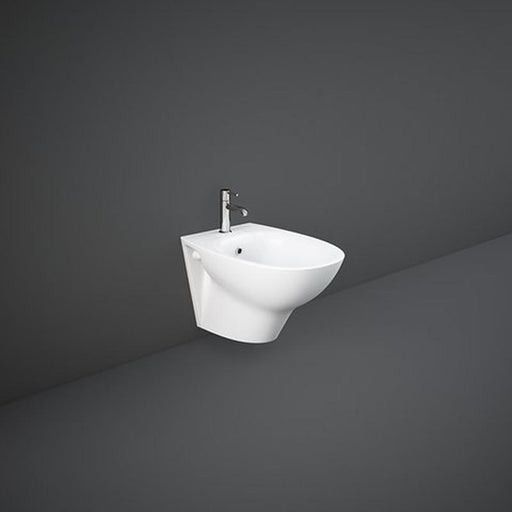Rak Morning Wall Hung Bidet 52cm Projection - Exposed Fitting - Unbeatable Bathrooms