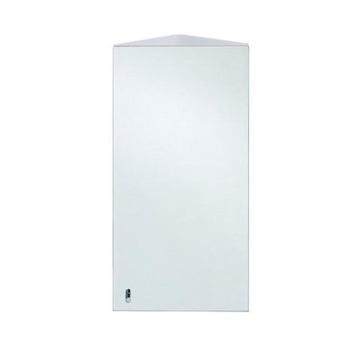 Rak Riva Single Corner Cabinet with Mirrored Door 65cm x 38cm - Unbeatable Bathrooms
