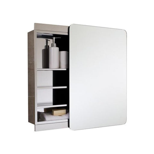 Rak Slide Single Cabinet with Sliding Mirrored Door 70cm x 50cm - Unbeatable Bathrooms
