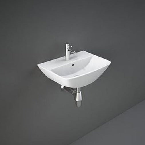 Rak Summit Cloakroom Basin 40cm Wide 1 Tap Hole - Unbeatable Bathrooms