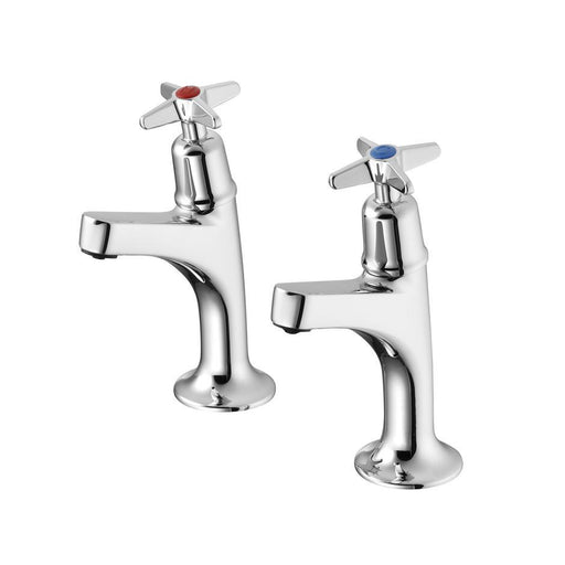 Armitage Shanks Sandringham 21 Sink Pillar Taps High Neck, Crosshead Handles - Unbeatable Bathrooms