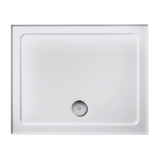 Ideal Standard Simplicity 900mm x 760mm low profile upstand shower tray including waste with 4 upstands - Unbeatable Bathrooms