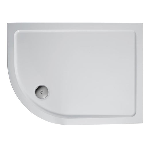 Ideal Standard Simplicity 900mm x 800mm Offset Quadrant low profile flat top shower tray including waste L510301
