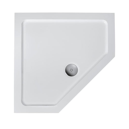 Ideal Standard Simplicity Low Profile 900 Pentagon Flat Top Tray & Waste - Unbeatable Bathrooms