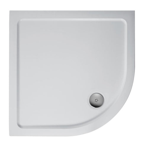 Ideal Standard Simplicity Quadrant low profile flat top shower tray including waste - Unbeatable Bathrooms