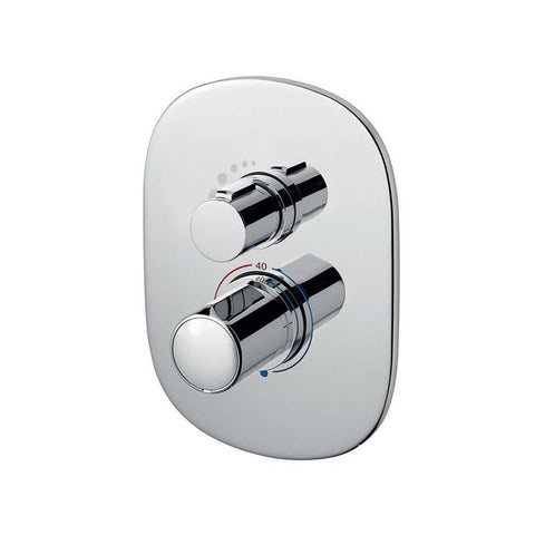 Sottini Basento Slim Thermostatic Built in Bath Oval Shower Mixer - Unbeatable Bathrooms