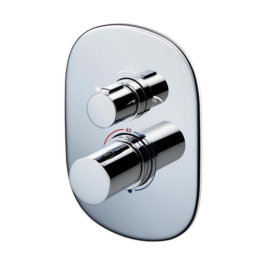Sottini Basento Thermostatic Built in Bath Oval Shower Mixer - Unbeatable Bathrooms