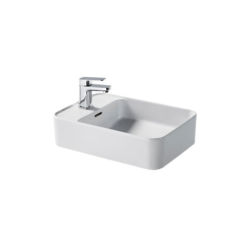 Sottini Fusaro 50Cm Rectangular Vessel Washbasin, 1 Taphole with Overflow - Unbeatable Bathrooms