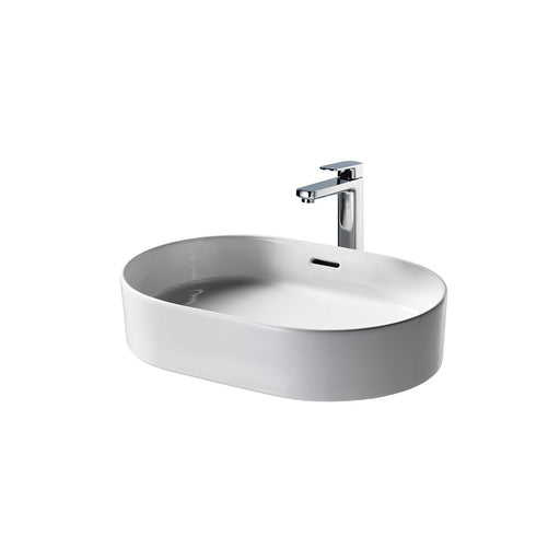Sottini Fusaro 60cm Oval Vessel Washbasin, No Taphole with Overflow - Unbeatable Bathrooms