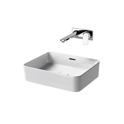 Sottini Fusaro Rectangular Vessel Washbasin with Overflow - Unbeatable Bathrooms