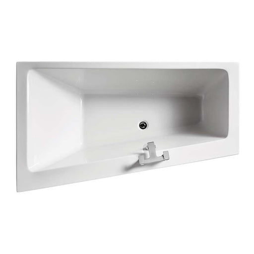 Sottini Lato 170X100 Asymmetric Bath with No Taphole - Unbeatable Bathrooms