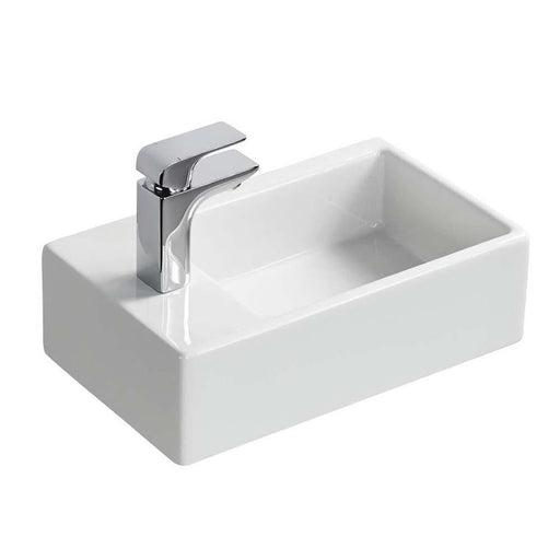 Sottini Magra 45cm Handrinse Countertop Wash Basin with One Left Hand Taphole - Unbeatable Bathrooms
