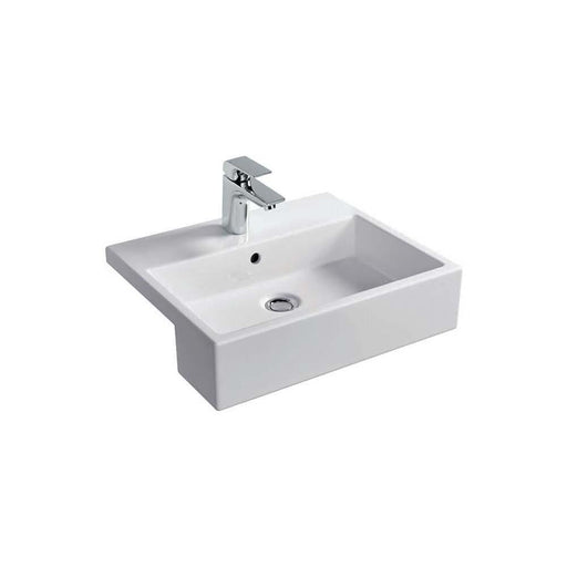 Sottini Magra 50cm Semi-Countertop Wash Basin with One Central Taphole - Unbeatable Bathrooms