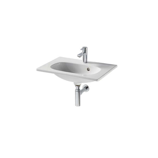 Sottini Mavone 50cm Short Projection Vanity Overflow Wash Basin with One Taphole - Unbeatable Bathrooms