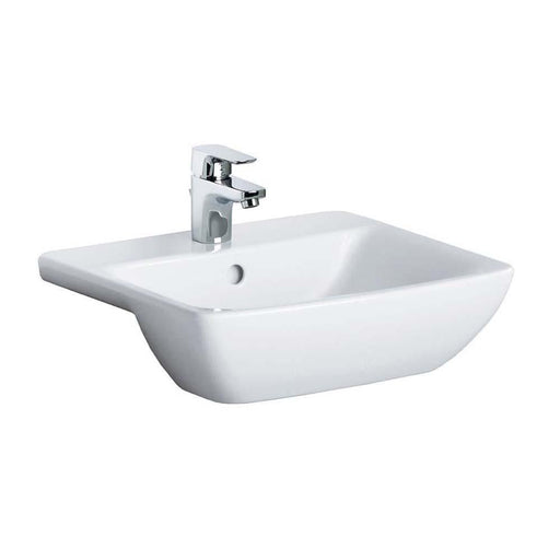 Sottini Santorini Bow 50cm Semi Countertop Wash Basin with One Taphole - Unbeatable Bathrooms