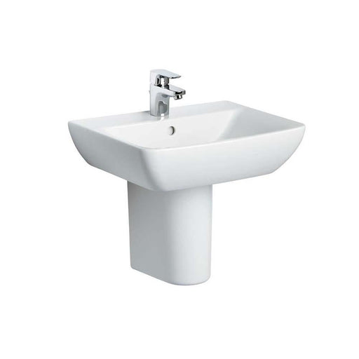 Sottini Santorini Bow 55cm Pedestal Basin One Taphole with Overflow - Unbeatable Bathrooms