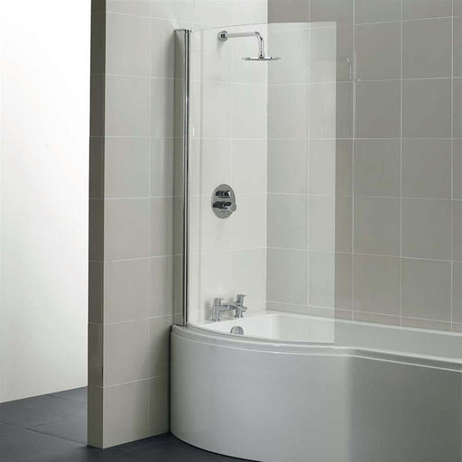 Sottini Santorini Shower Bath Clear of Glass Curved Screen - Unbeatable Bathrooms
