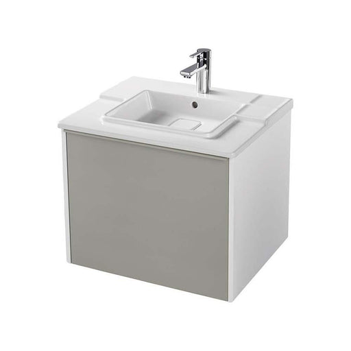 Sottini Simeto 62cm Wall Hung Vanity Basin Unit with One Drawer & One Internal Drawer - Unbeatable Bathrooms
