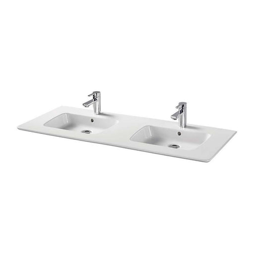 Sottini Simeto Due 124cm Double Vanity Wash Basin with Two Tapholes - Unbeatable Bathrooms