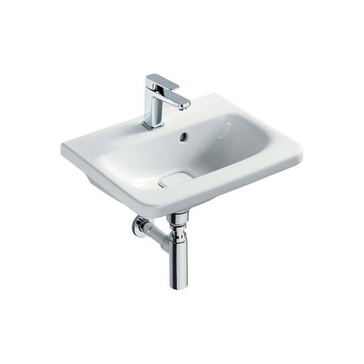 Sottini Turano 52cm Small Overflow Vanity Wash Basin with One Taphole - Unbeatable Bathrooms