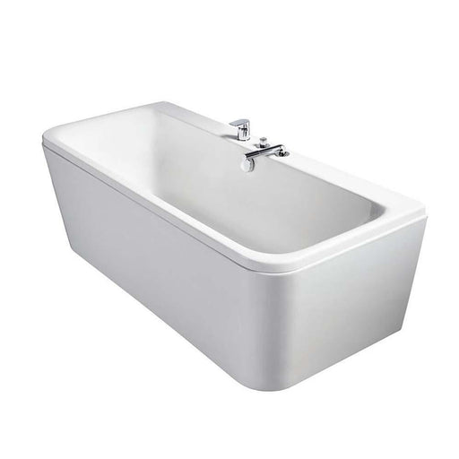 Sottini Turano Peninsular D-shape Double Ended 180x80cm Bath Tub Including Waste - Unbeatable Bathrooms