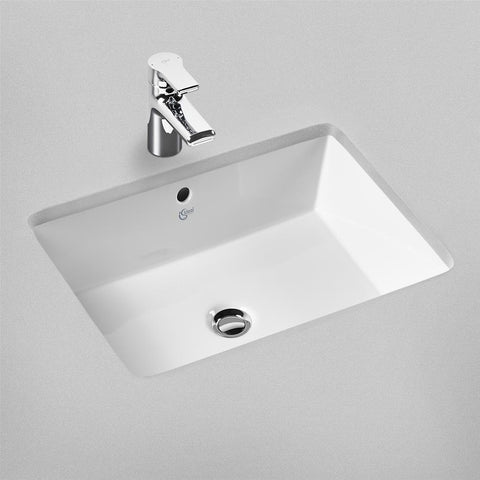 Ideal Standard Strada 60cm under-countertop washbasin with overflow, no taphole - Unbeatable Bathrooms