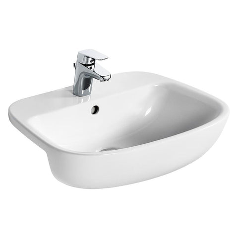 Ideal Standard Studio Echo 55cm semi-countertop washbasin, one taphole with overflow - Unbeatable Bathrooms