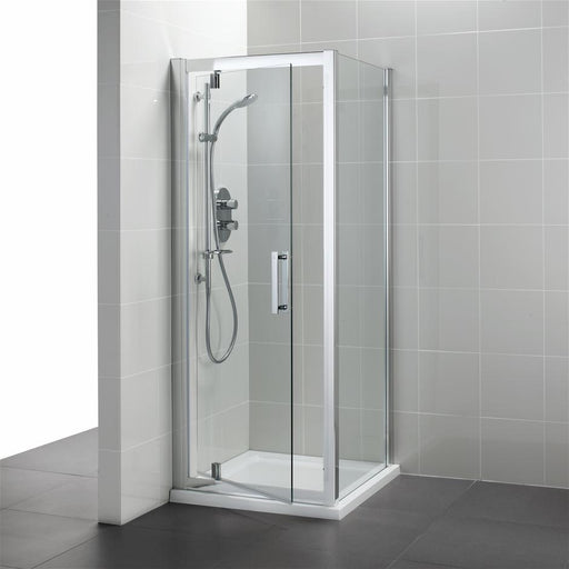 Ideal Standard Synergy Pivot door, IdealClean Clear Glass, Bright Silver finish L6201EO+L6216EO