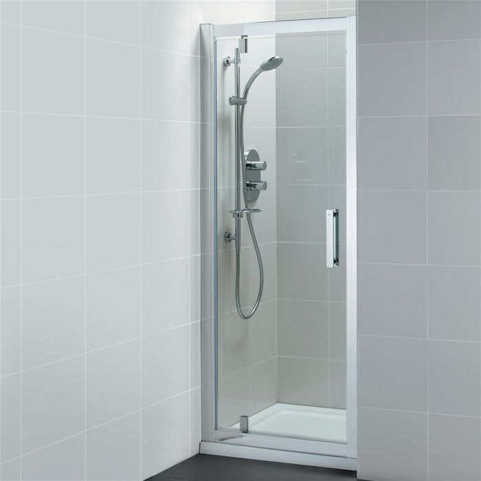 Ideal Standard Synergy Pivot door, IdealClean Clear Glass, Bright Silver finish - Unbeatable Bathrooms