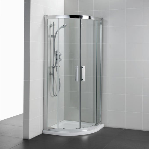 Ideal Standard Synergy Quadrant enclosure, IdealClean Clear Glass, Bright Silver finish - Unbeatable Bathrooms