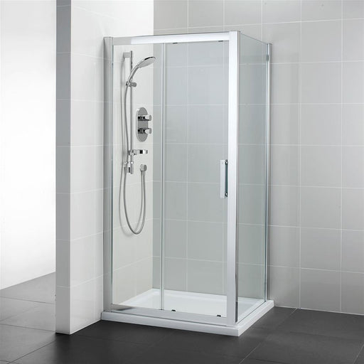 Ideal Standard Synergy Slider door, IdealClean Clear Glass, Bright Silver finish L6288EO+L6199EO