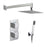 Vado Shower Valve Package of Notion Two Outlet,Two Handle Concealed Thermostatic Shower Valve,Fixed Shower Head & Mini Shower Kit - Unbeatable Bathrooms