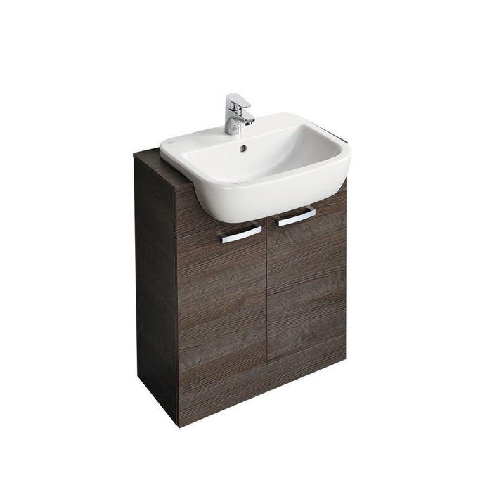 Ideal Standard Tempo 650mm Semi countertop unit with 55cm basin and worktop - Unbeatable Bathrooms