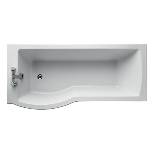 Ideal Standard Tempo Arc 170 x 70/80cm Idealform Plus+ shower bath. left hand, no handgrips no tapholes - Unbeatable Bathrooms