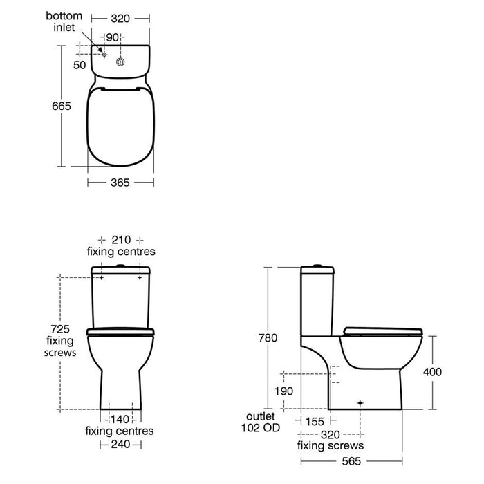 Ideal Standard Tempo Close Coupled WC Suite - Unbeatable Bathrooms