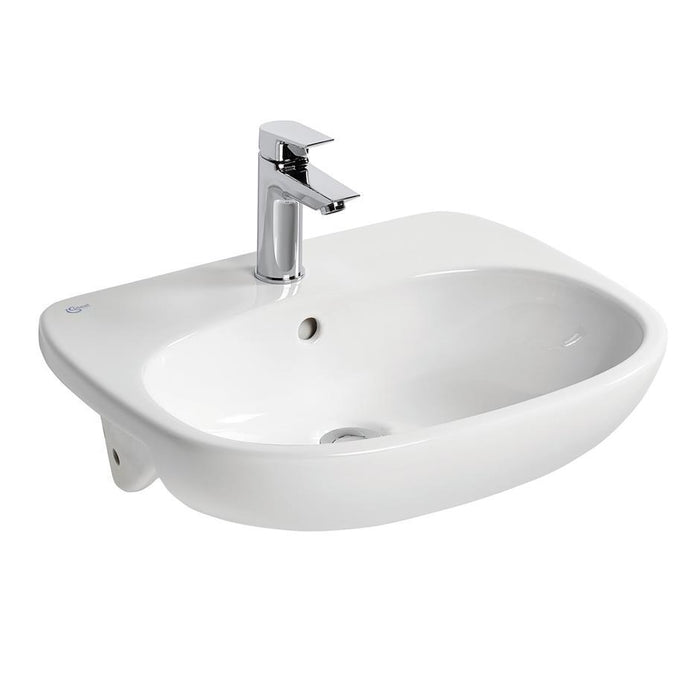 Ideal Standard Tesi 55cm semi-countertop basin - one taphole - Unbeatable Bathrooms