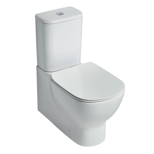Ideal Standard Tesi close coupled back to wall wc pan with horizontal outlet - Unbeatable Bathrooms