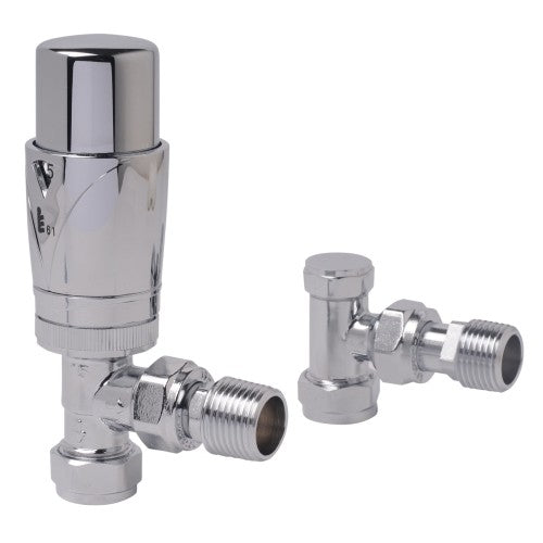 Zehnder Thermostatic Angled Valve Set - Unbeatable Bathrooms