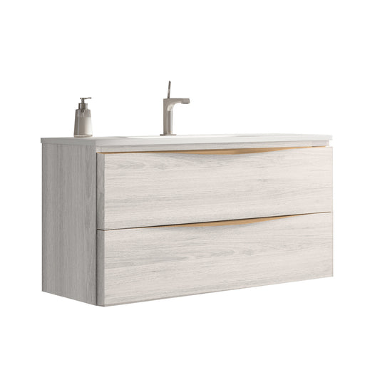 Vogue 100cm 2 Drawer Wall & Floor Vanity Unit - Unbeatable Bathrooms