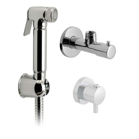 Vado Luxury Wall Mounted Shattaf Kit with Concealed Thermostatic Mixing Valve & Angle Valve - Unbeatable Bathrooms