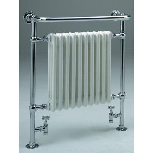 Zehnder Balmoral Central Heating Bright Nickel Radiator - Unbeatable Bathrooms
