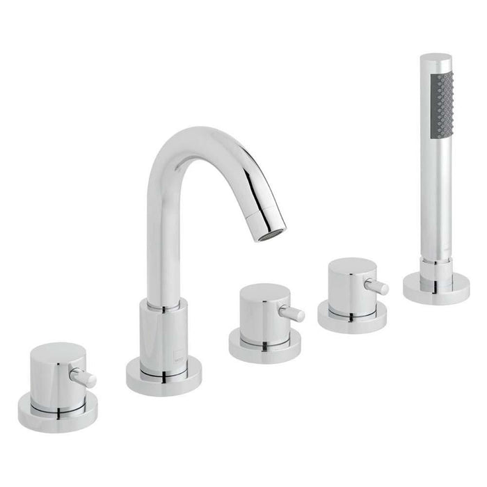 Vado Zoo Five Hole Deck Mounted Bath Shower Mixer - Unbeatable Bathrooms