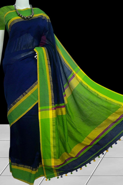 Khadi Handloom Saree in a smart combination